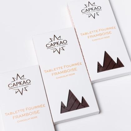Capkao - Tablette fourrée framboise