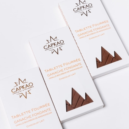 Capkao - Tablette fourrée ganache fondante